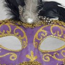 Venetian HALLOWEEN Mask ANTIQUE PURPLE Costume Costume