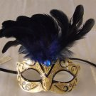 Eye Mask Blue with Jewel Costume Prom Mardi Gras New Orleans Party Masquerade