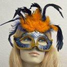GATOR GIRL Glitter Feather HALLOWEEN Mask BRAID Party