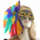 Rainbow Queen Fantasy  Costume Dress Ball Mardi Gras