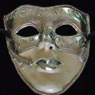 HALLOWEEN Drama Art Theatre Mask SILVER IVORY MASK