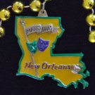 Comedy & Tragedy New Orleans Mardi Gras LA State Beads