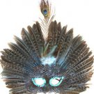 Venetian Feather Mask Light Blue Masquerade Decor Mardi Gras Halloween Prom
