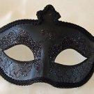Gothic Solid Black Venetian Eye Mask Mardi Gras Prom Halloween Costume Party