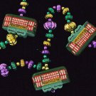 New Orleans STREET CAR Mardi Gras Beads Streetcar Desire 3 to a Strand
