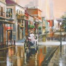Buggy Drive Side Street New Orleans Baltas Matted Art Print French Quarter