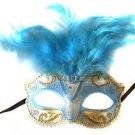 Saigon Blue Mask Costume Prom Mardi Gras New Orleans Carnival Masquerade