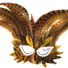 Venetian Feather Mask Tiger Lilly Masquerade Ball Halloween Feather Mask