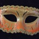 Venetian Mask Glitter Masquerade Costume Salmon Silver
