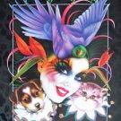Mistretta 1998 Masks Mardi Gras Art Artist Signed & Numbered #215 New Orleans