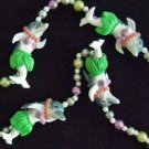 Luaua Dolphin Mardi Gras Bead Necklace YOUR CHOICE STYLE New Orleans Beads