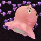 Pink Octopus Ocean Aquarium Mardi Gras Beads Cephalopod