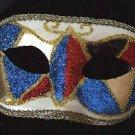 Venetian Harlequin Glitter Eye Mask Your Choice Color Mardi Gras Costume Teen