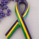 Mardi Gras Awareness New Orleans Mardi Gras Ribbon