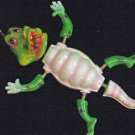 Bobble Head Alligator  Mardi Gras Beads Moves Animated