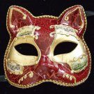 Mask Venetian Cat Your Color Choice Mardi Gras Carnival Costume Italy Antique