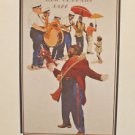 New Orleans Jazz Art Print by Bergen Rare Collector Print French Quarter