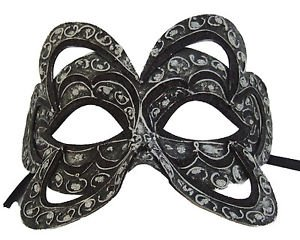 Venetian Mask Belgium Black YOUR CHOICE COLOR Mardi Gras Prom Costume Party