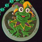 Jester Frog King Premium Mardi Gras Bead Necklace Party New Orleans Bead Throw