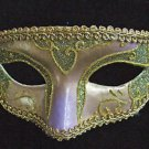 Venetian Mask Purple Green Gold Mardi Gras New Orleans Halloween Masquerade