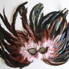 Desert Rose Feather Flame Mask Halloween Mardi Gras Costume Prom Masquerade
