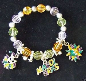 Charm Bracelet YOUR CHOICE STYLE Mardi Gras New Orleans Jester Party Costume