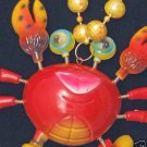Bobble Head Crab Mardi Gras Beads Moves Animated