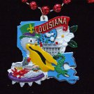 Pelican State Louisianna Bead Necklace New Orleans Beads Carnival Parade