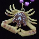 CRAB Tasty Crabs New Orleans Seafood Mardi Gras Beads