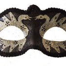 Venetian Masquerade Mask Black Swan Silver Eye Halloween Party Costume Prom