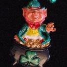 IRISH Leprahchaun POT OF GOLD Mardi Gras Bead Necklace