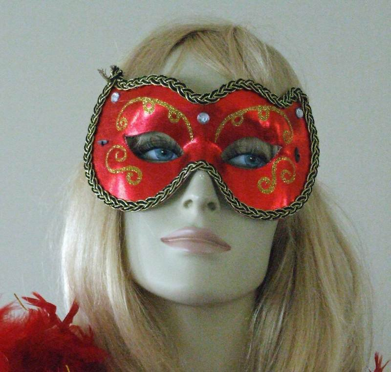 HALLOWEEN MASK Red Debutante Costume Party Sexy Fun