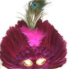 Venetian Feather Mask Pink Masquerade Decor Mardi Gras Halloween Prom