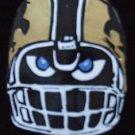 Fear The Black & Gold Fleu de Lis Bead Necklace New Orleans Football Beads