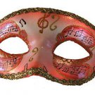 Venetian Eye Mask Rose Musical Score Costume Prom Party Mardi Gras Music