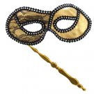 Opera Folding Gold Venetian Mask Mardi Gras Costume Party Masquerade Prom