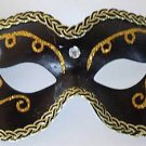 Back In Black Unisex Classic Masquerade Ball Party Mask