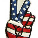 American Peace Sign Hand Necklace New Orleans Mardi Gras Spring Break Cajun