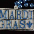 New Orleans Street Tile Mardi Gras Bead Street Address