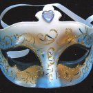 Mardi Gras Party Mask Light Blue Jewel New Orleans Fun