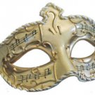 Medici Venetian Eye Mask Ivory & Gold Music Mardi Gras Costume Masquerade Party