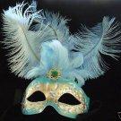 Fantasia Mardi Gras Feather Mask Jewel Halloween Party Masquerade New Orleans