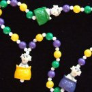 Dalmation Puppy Puppies New Orleans Mardi Gras Beads