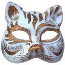 Cat Face Mask Copper Costume Prom Mardi Gras New Orleans Party Masquerade