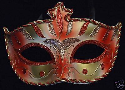 Wellington Crimson Red SILVER Venetian Mardi Gras Mask