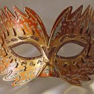 Venetian Mask Star Burst Orange Prom Mardi Gras Masquerade Costume Party