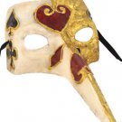 Venetian Mask Zanni Long Nose Card Suite Mardi Gras Halloween Orleans Prom Party