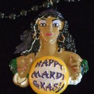 Fortune Teller Mardi Gras Bead Necklace New Orleans Beads French Quarter Party