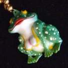 Busty Frog Lady Big Rip Mardi Gras Bead Necklace Funny