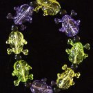 Skulls Purple Green Gold Clear Mardi Gras Beads New Orleans Carnival Bayou
